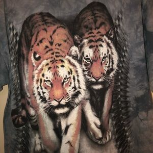 Old vtg 2003 The Mountains tiger tie dyed T-shirt
